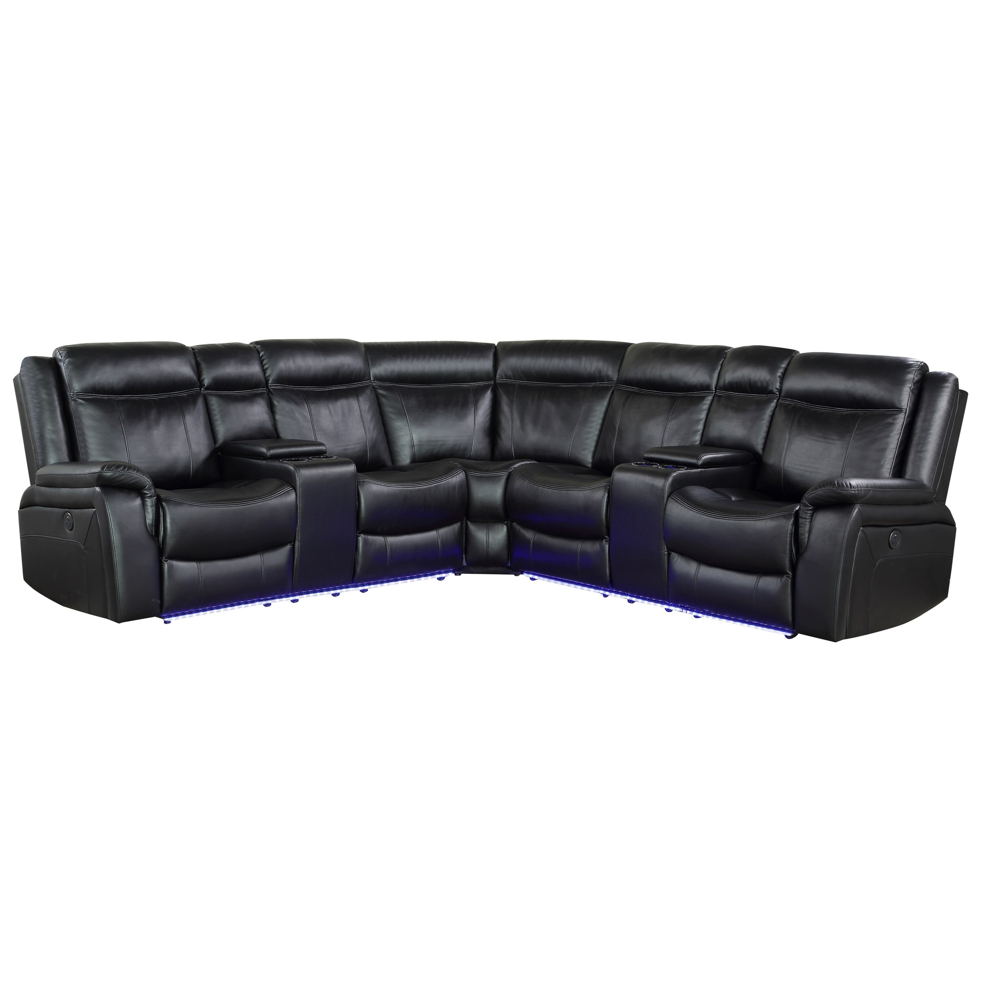 Levin Power Reclining Sectional by Steve Silver at Northeast Factory Direct