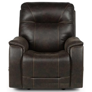 Triple-Power Media Recliner with Hidden Lighted Cupholders