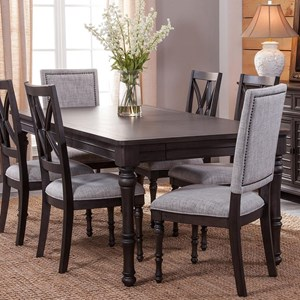 Transitional Dining Table with Table Leaf