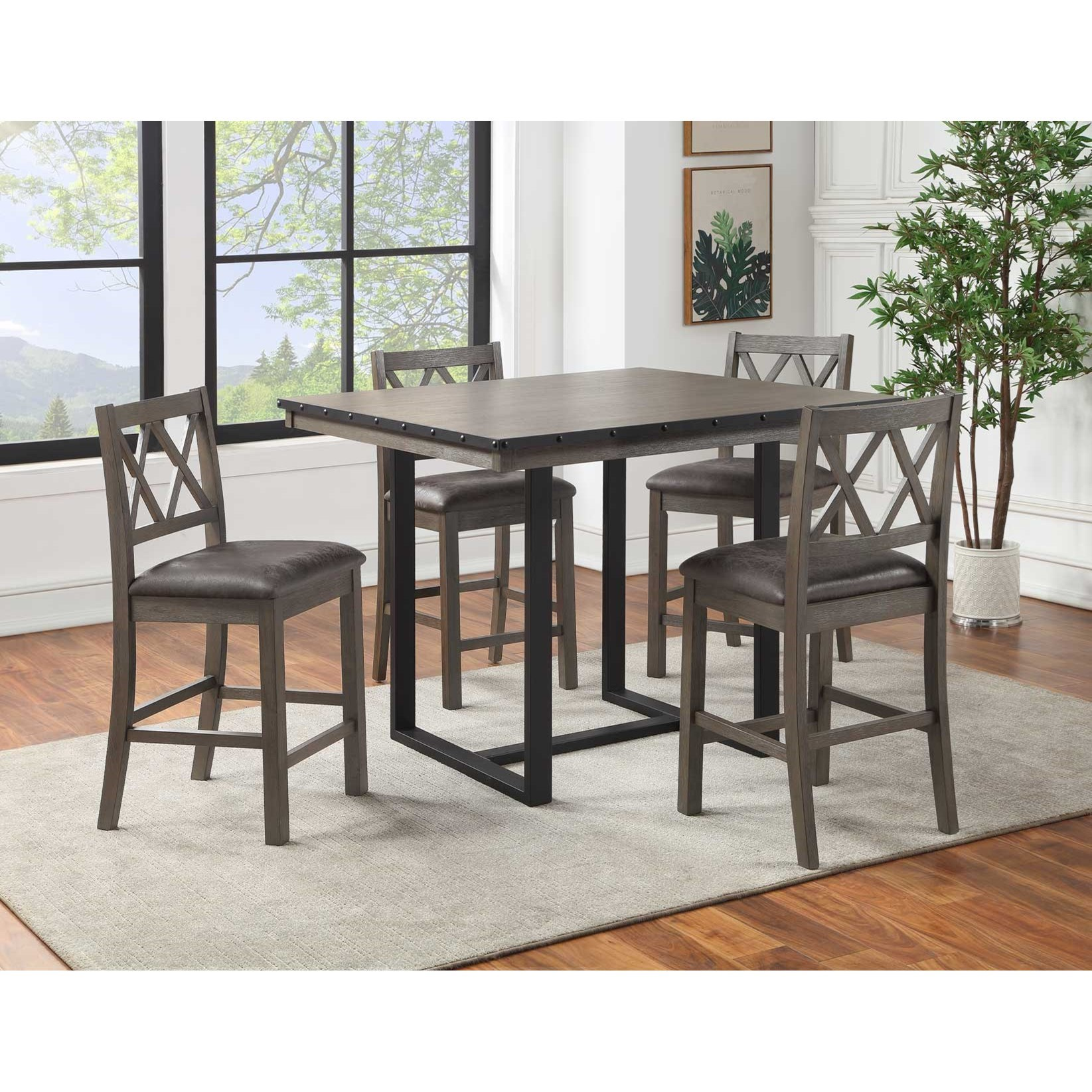 Lori 5-Piece Counter Dining Set by Steve Silver at Northeast Factory Direct