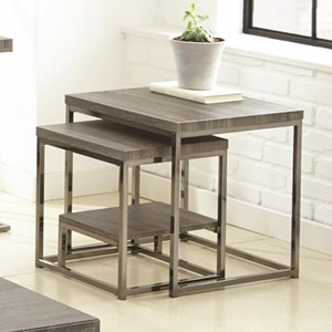 2 Piece Nesting Table Group with Shelf