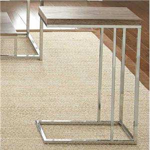Chairside End Table with Metal Frame