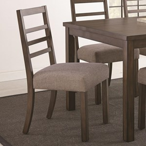 Ladderback Dining Side Chair with Upholstered Seat