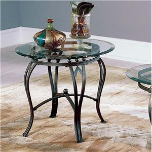 End Table Base & Glass Top