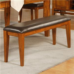 Dining Bench with Upholstered Seat