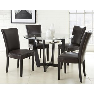 5 Piece Dining Set with Parson Side Chairs