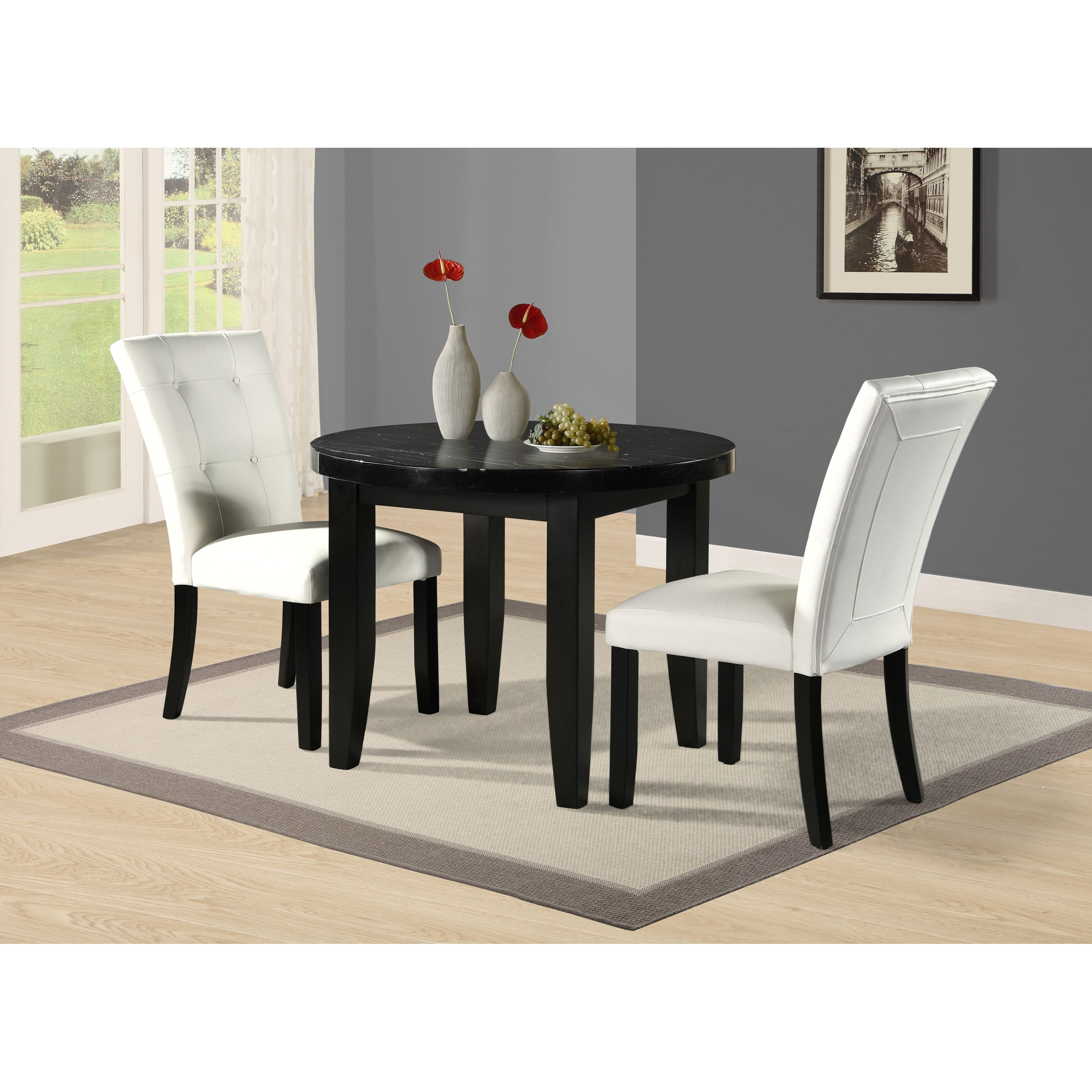 Markina 3-Piece Counter Table and Chair Set by Steve Silver at Northeast Factory Direct