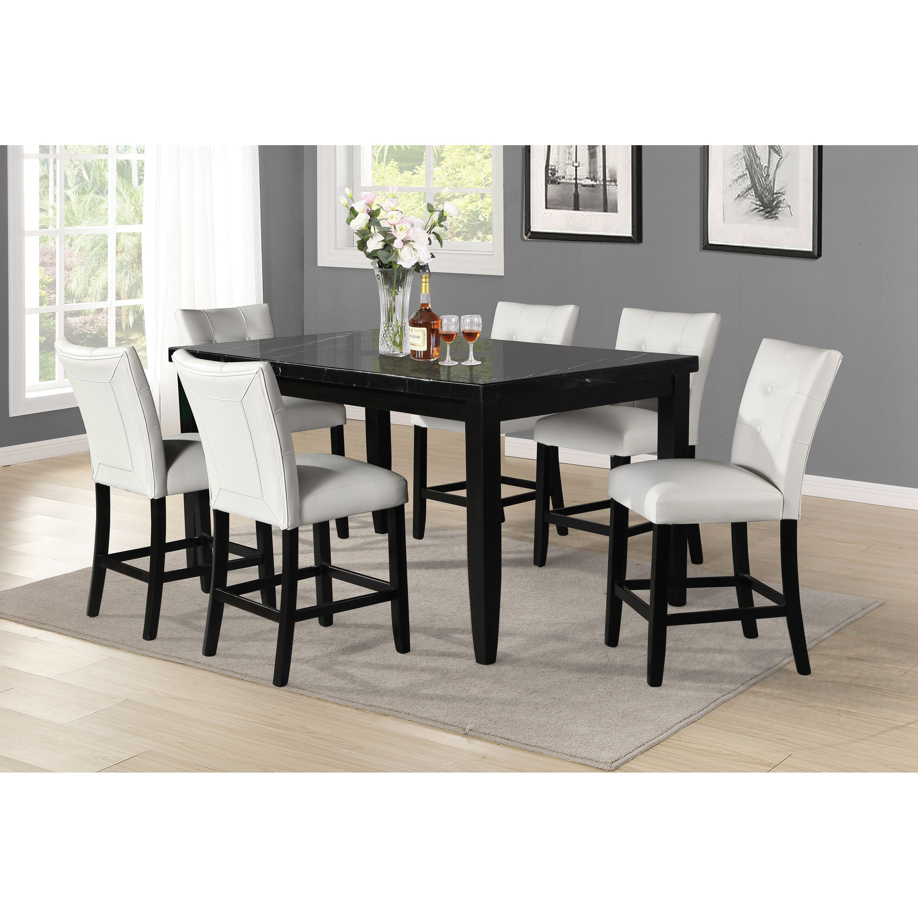 Markina 7-Piece Counter Table and Chair Set by Steve Silver at Northeast Factory Direct