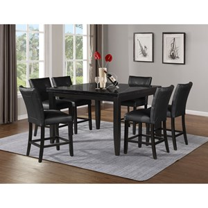 Sidney 7-Piece Counter Table and Chair Set