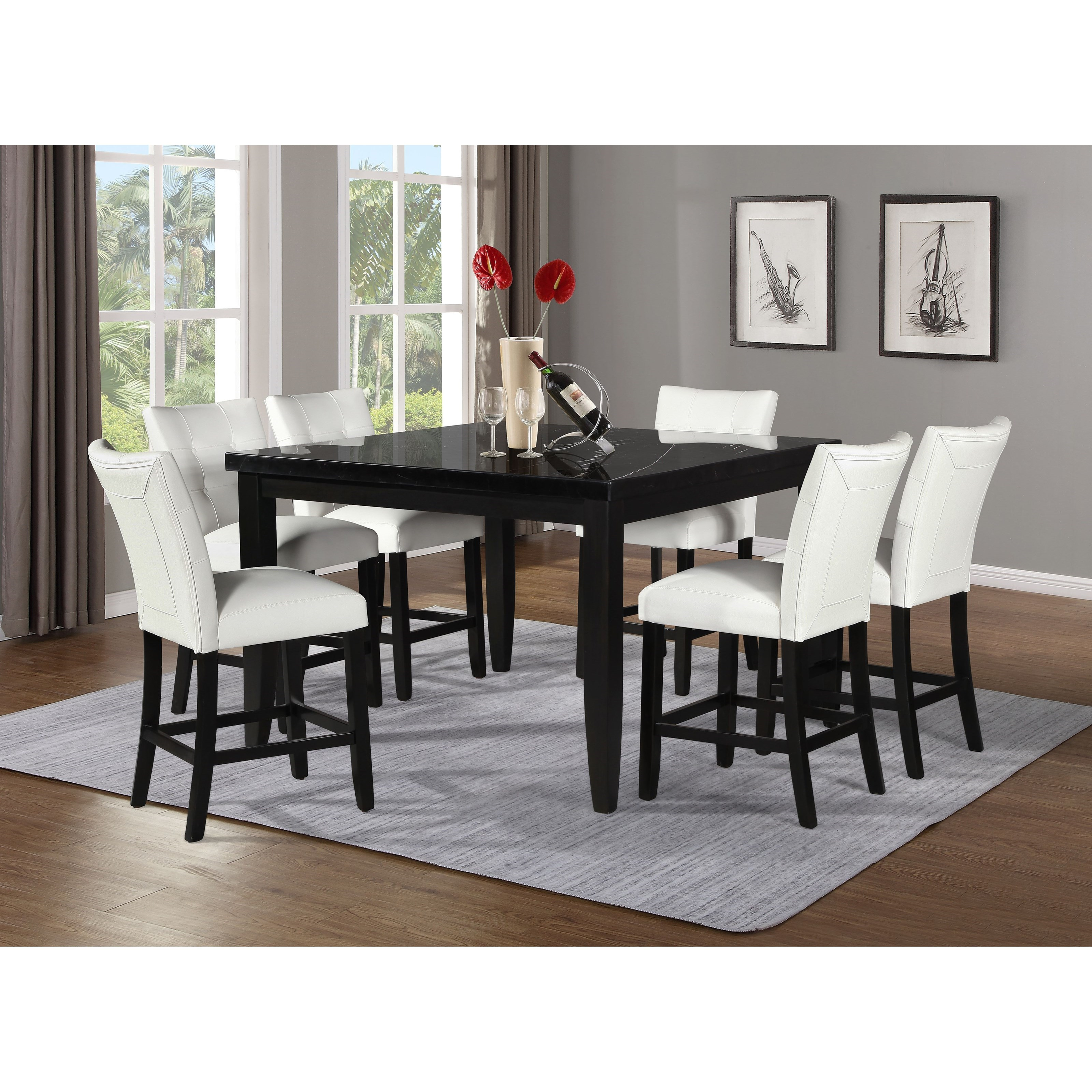 Sidney Sidney 7-Piece Counter Table and Chair Set by Steve Silver at Morris Home