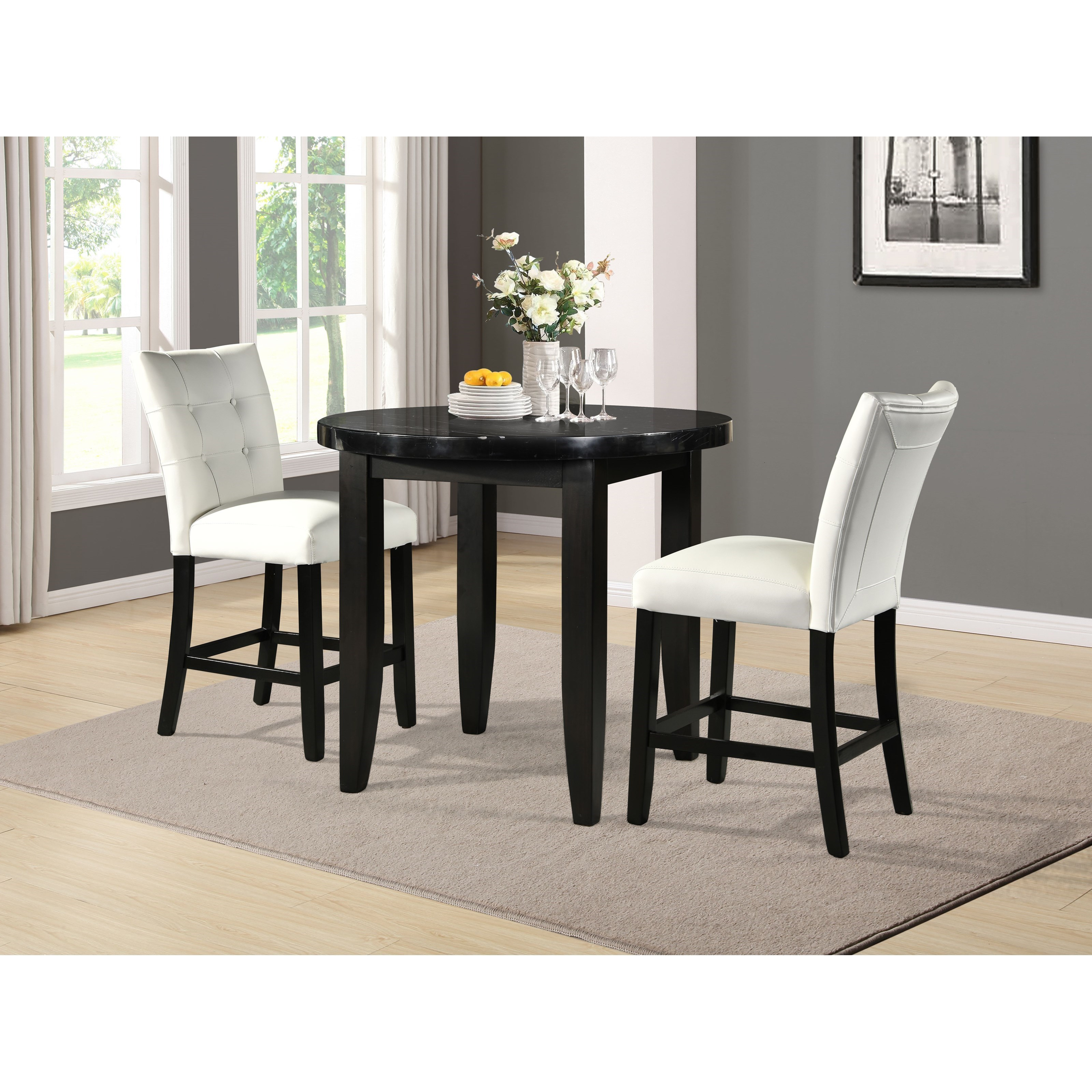 Markina 3-Piece Counter Table and Chair Set by Steve Silver at Standard Furniture