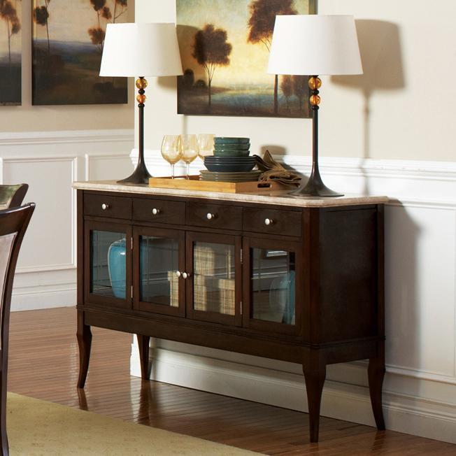 Marseille Marble Top Sideboard by Steve Silver at Walker's Furniture