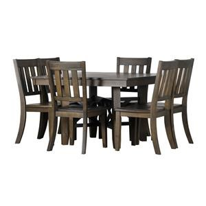 Rustic Wood 5-Piece Table Set