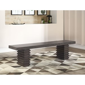 Contemporary Dining Bench with Solid Hardwood Moldings