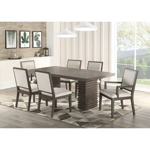 Contemporary 7 Piece Dining and Chair Set