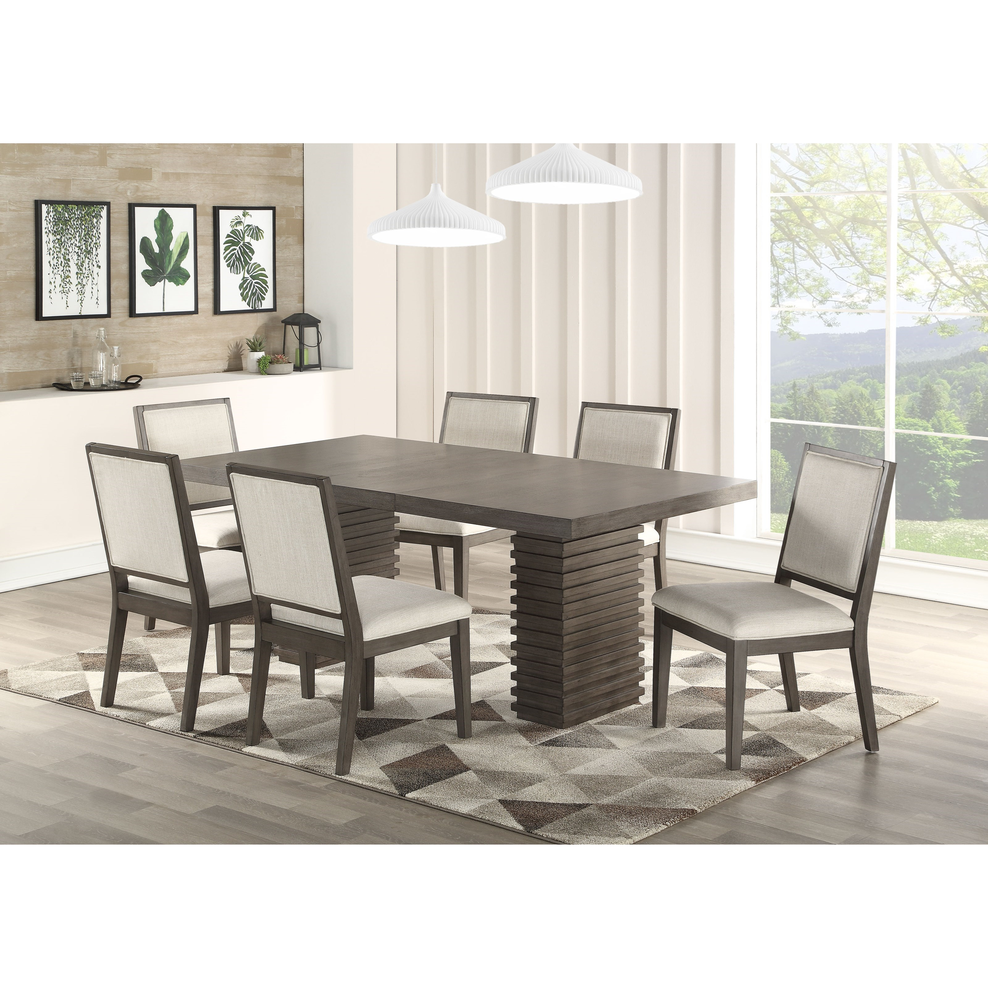 Mila 7 Piece Dining and Chair Set by Steve Silver at Northeast Factory Direct