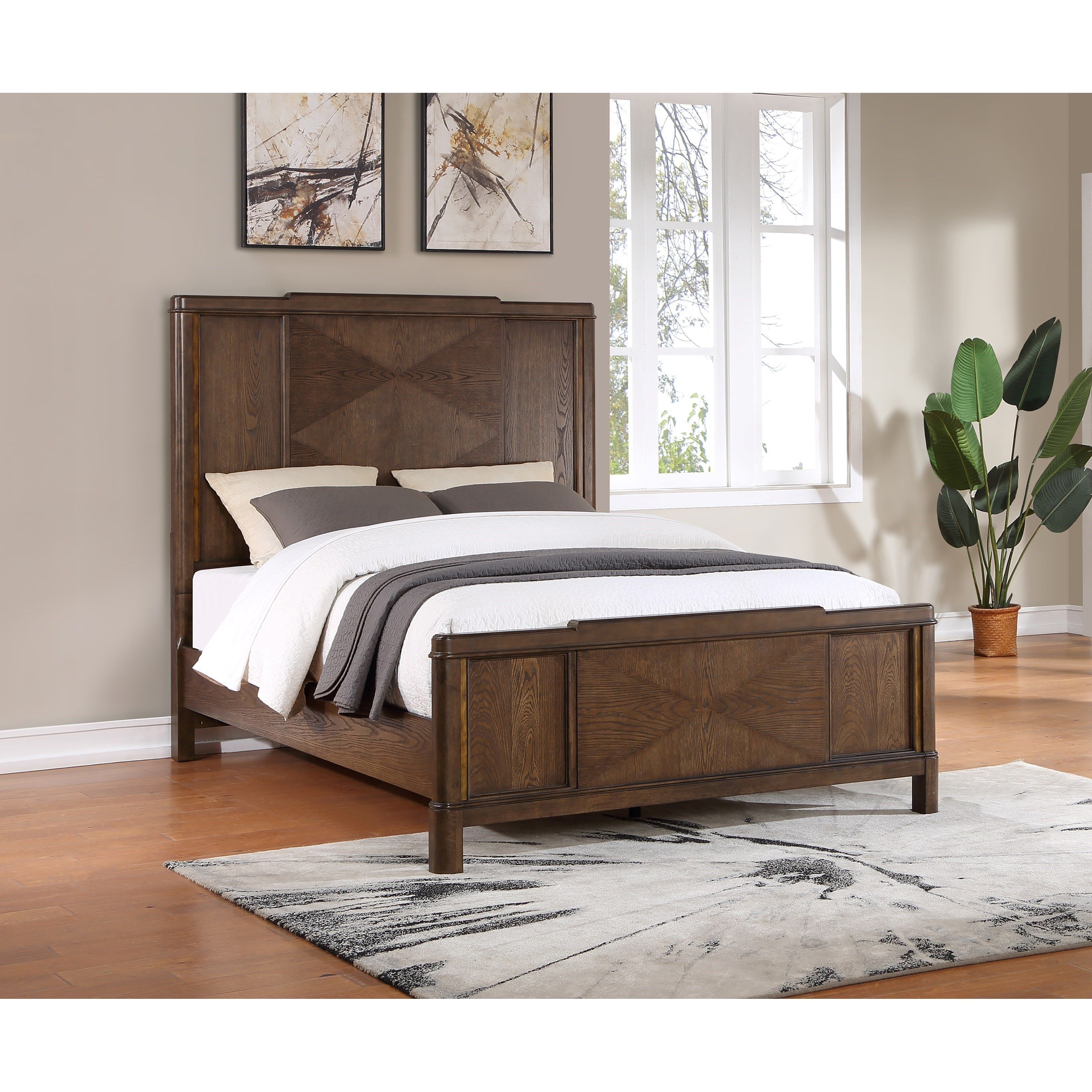Milan Queen Panel Bed by Steve Silver at Standard Furniture