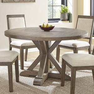 """Rustic 54"""" Round Dining Table"""