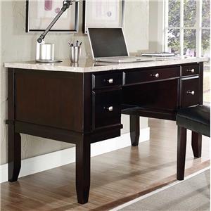 Steve Silver Monarch White Marble Top Writing Desk