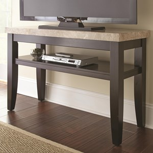 Sofa Entertainment Table with Marble Veneer Top