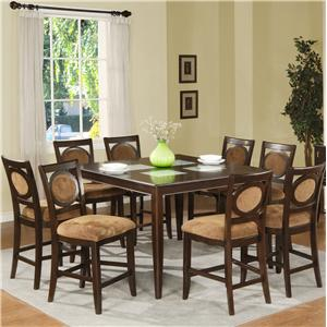 Steve Silver Montblanc Counter Table and Counter Chair Set