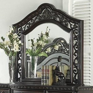 Traditional Mirror with Decorative Carvings
