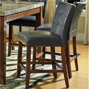 Dark Brown Parsons Counter Height Chair