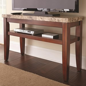 Sofa Entertainment Table with Marble Top