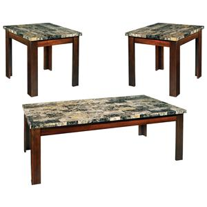 3-Pack Stone Top Occasional Table Set
