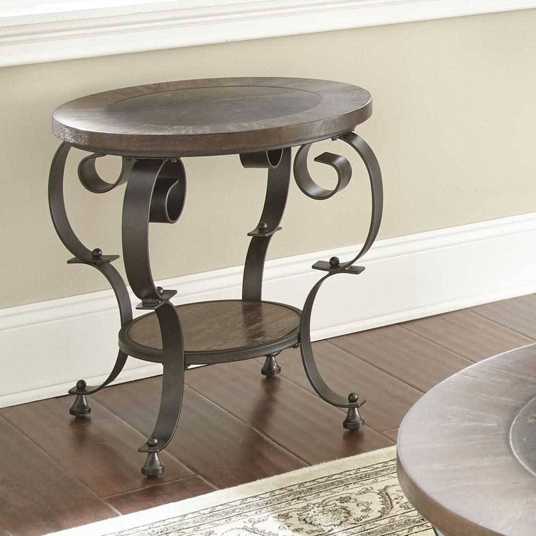Mulberry Round End Table by Steve Silver at Walker's Furniture