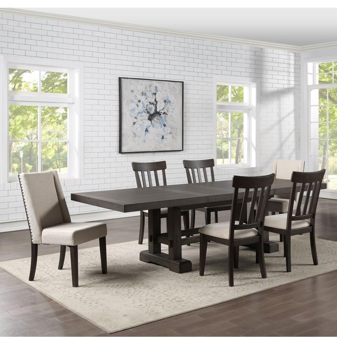 Napa 7-Piece Table and Chair Set by Steve Silver at Van Hill Furniture