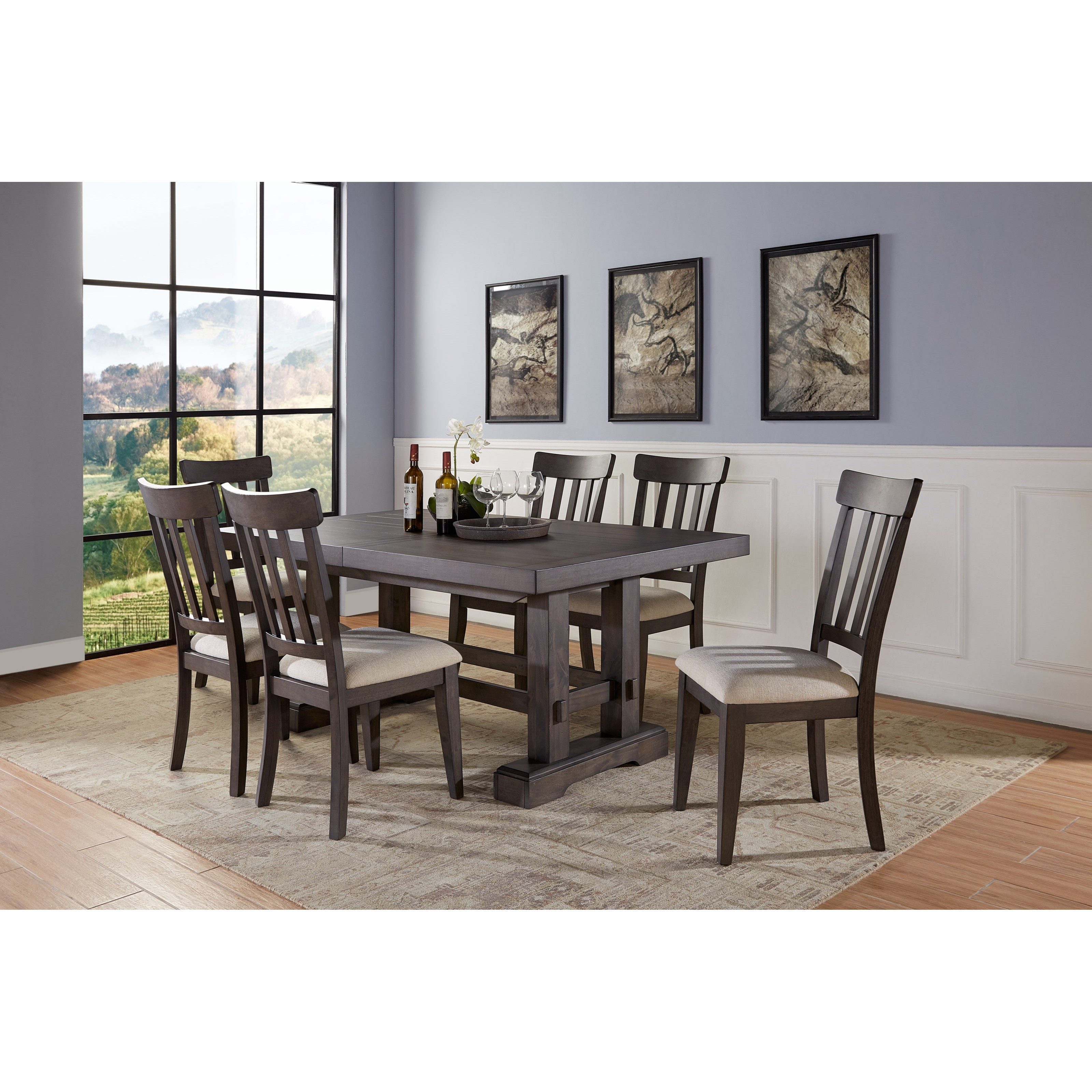 Napa 7-Piece Table and Chair Set  by Steve Silver at Walker's Furniture