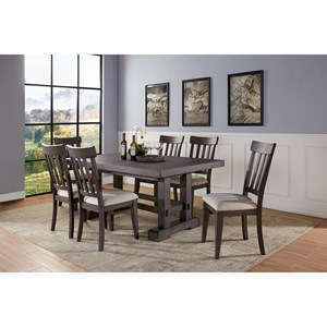 Contemporary 5-Piece Standard Height Dining Set with Leaves