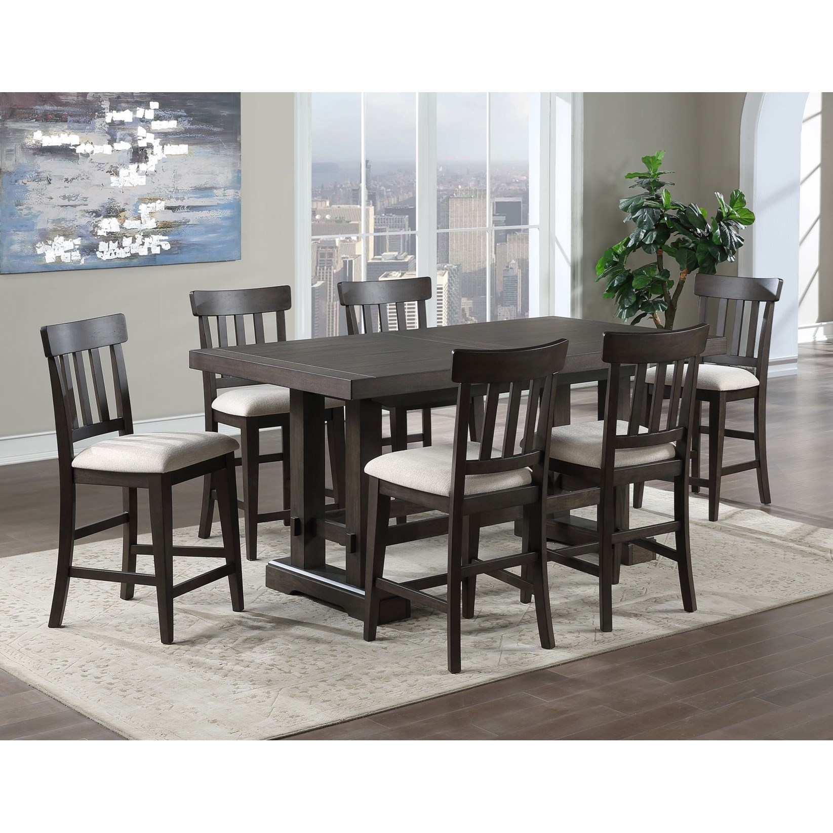 Napa 7-Piece Counter Height Dining Set by Steve Silver at Walker's Furniture