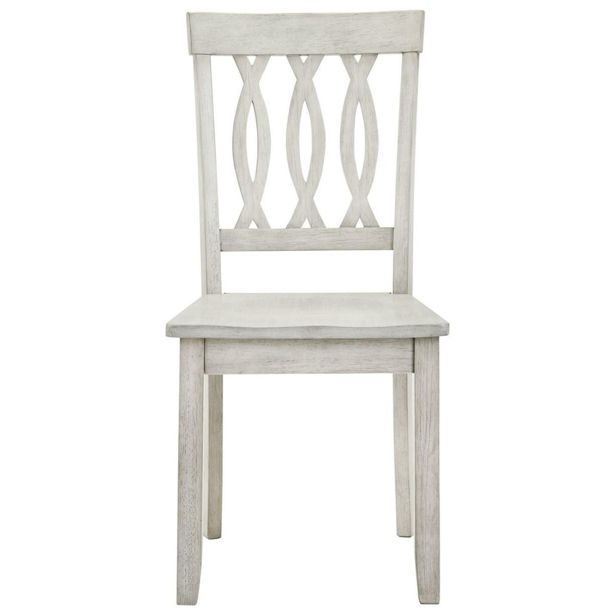 Naples White Side Chair by Steve Silver at Walker's Furniture
