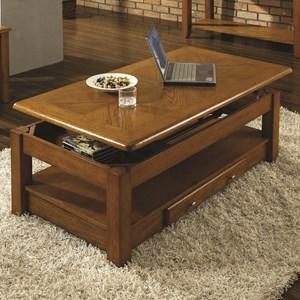 Lift-Top Cocktail Table with drawer