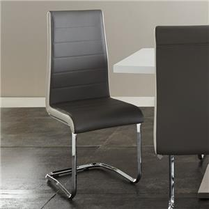 Two Tone Breuer Side Chair in Faux Leather