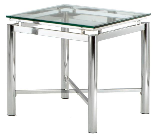 Nova Glass Top End Table by Steve Silver at Northeast Factory Direct