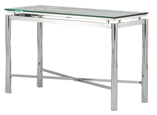 Nova Glass Top Sofa Table by Steve Silver at Walker's Furniture