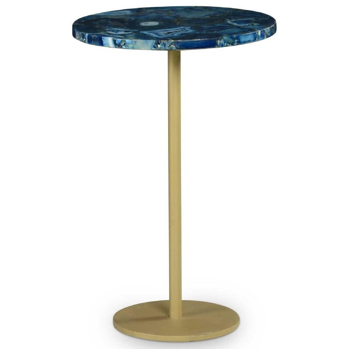 Oceana Agate Top Side Table by Steve Silver at Northeast Factory Direct