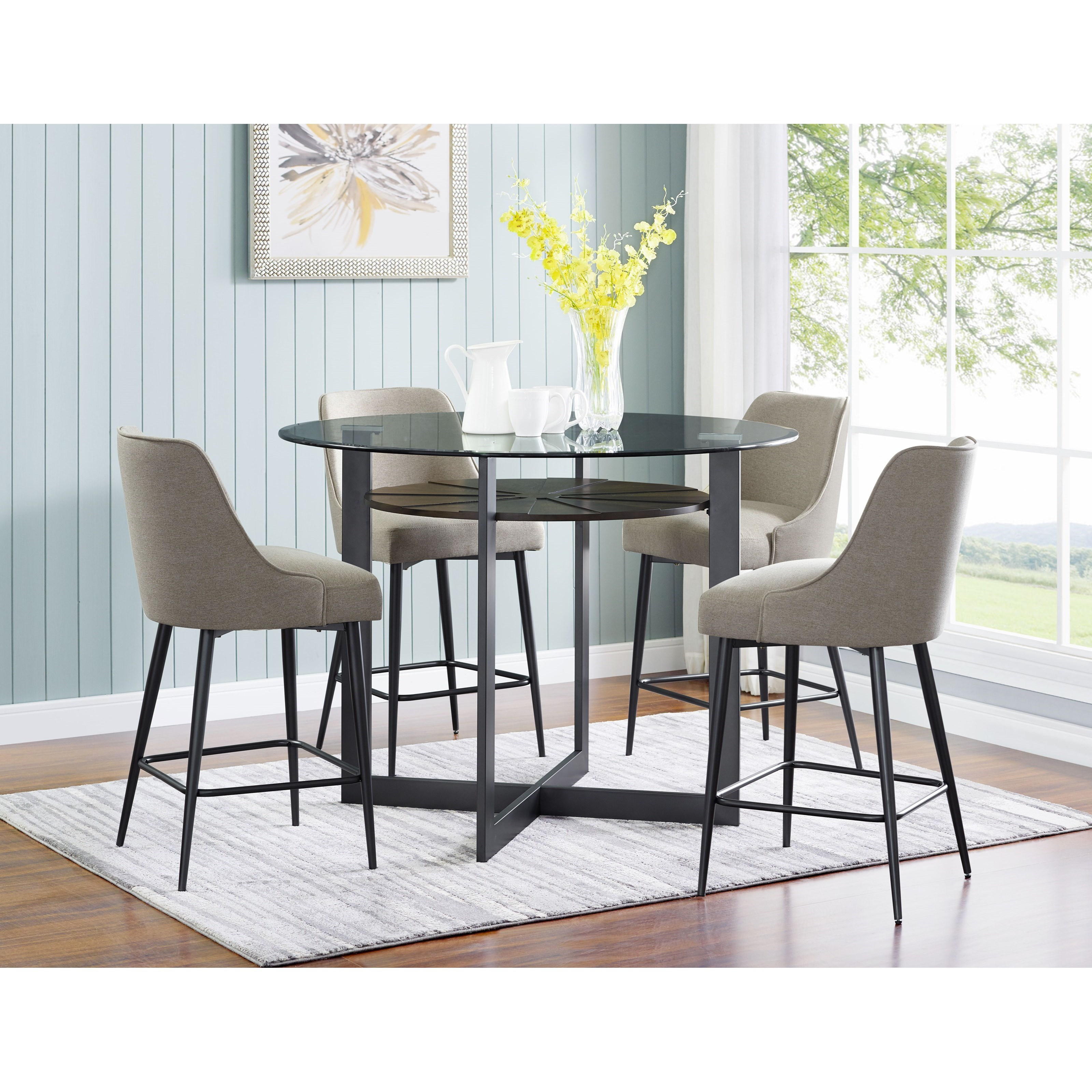 Olson SS 5 Piece Counter Dining Set by Steve Silver at Darvin Furniture