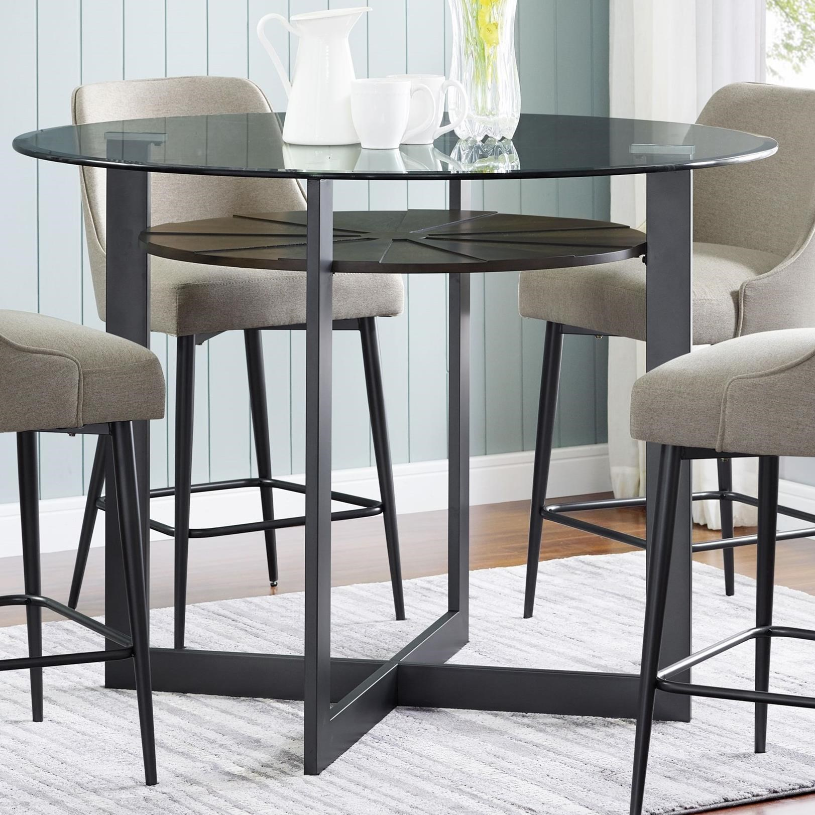 Olson SS Round Glass Counter Table by Steve Silver at Rooms for Less