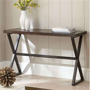 Sofa Table with Metal Base