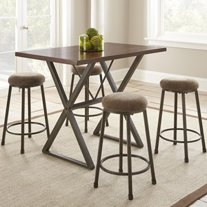5 Piece Industrial Counter Height Dining Set