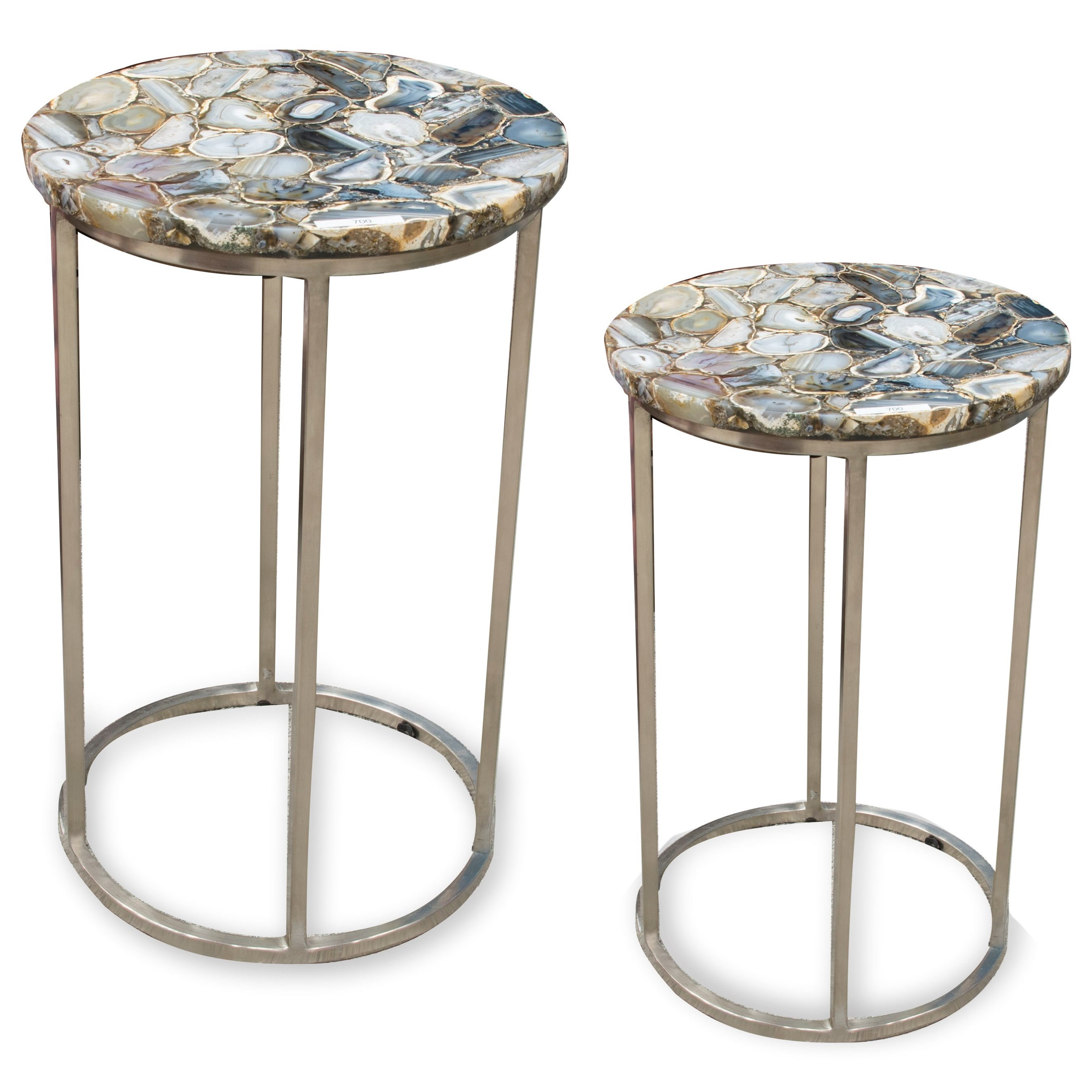 Onyx Agate Top Nesting Table by Steve Silver at Northeast Factory Direct
