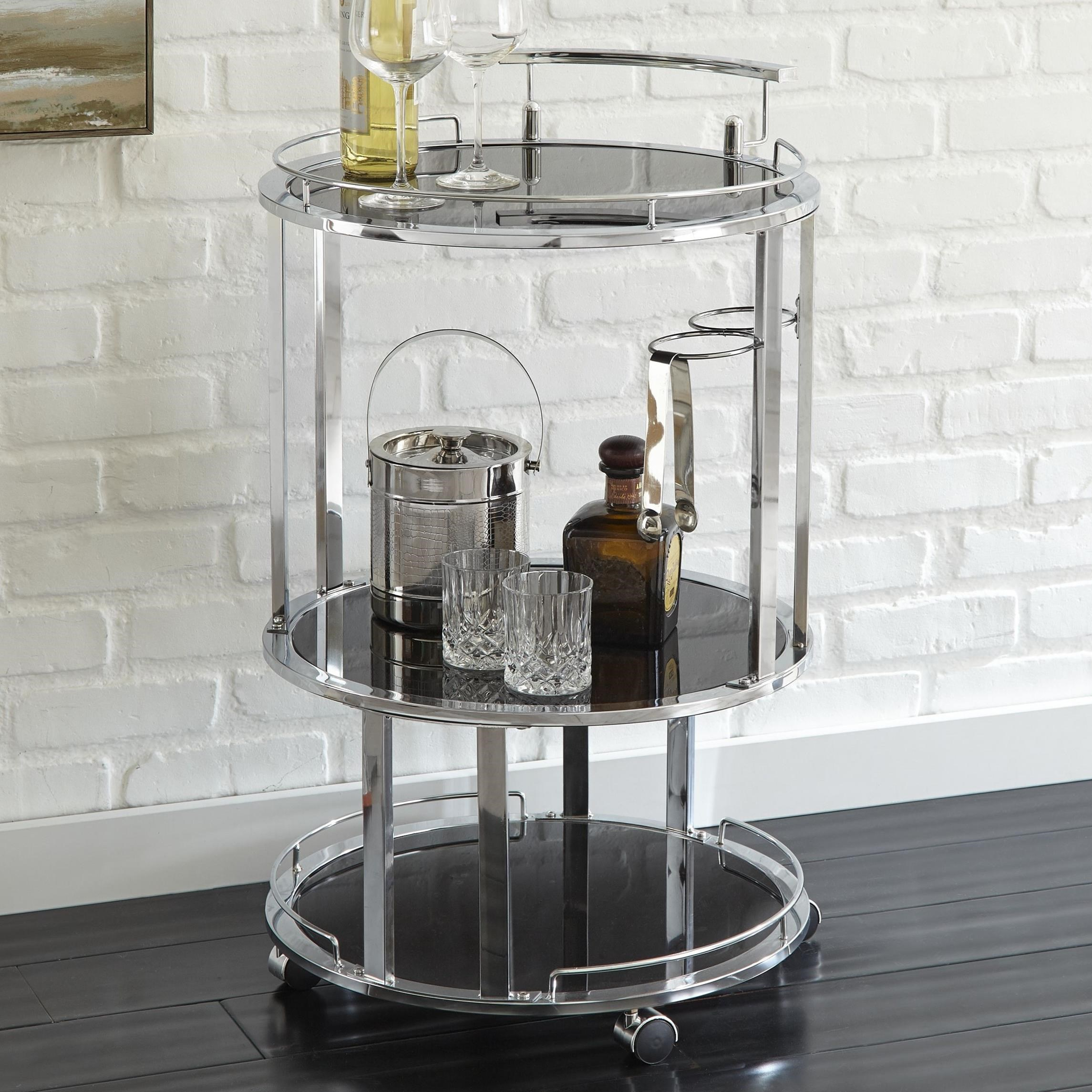 Otero Server Cart by Steve Silver at Walker's Furniture