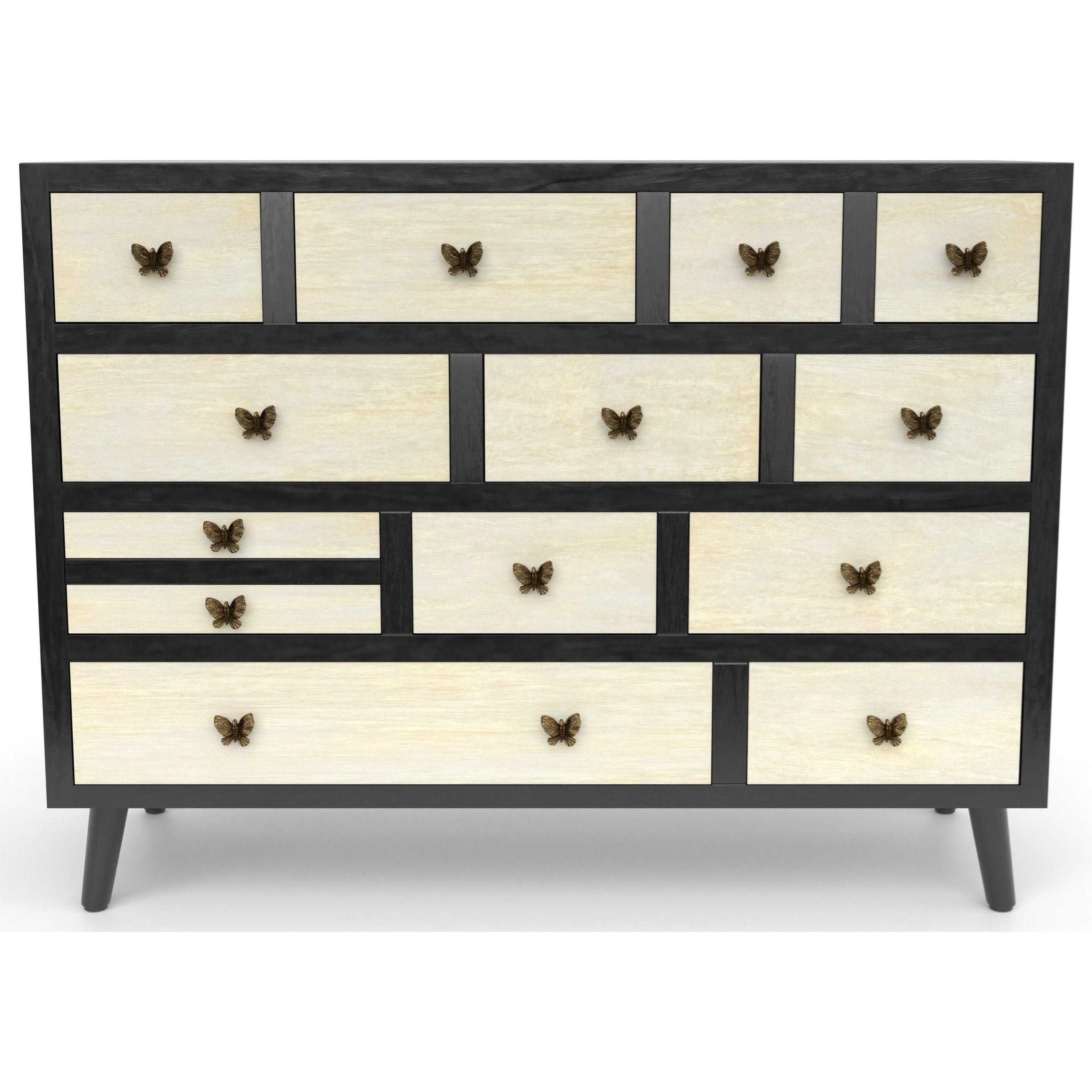 Papillon 13 Drawer Sideboard by Steve Silver at Walker's Furniture