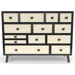 Relaxed Vintage 13-Drawer Sideboard
