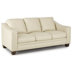Transitional Leather Sofa