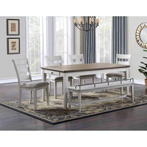6-Piece Formal Dining Set with Bench